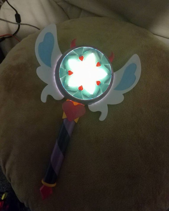 Light Up Star Vs the Forces of Evil Star Butterfly Inspired Season 3 Star Wand Prop
