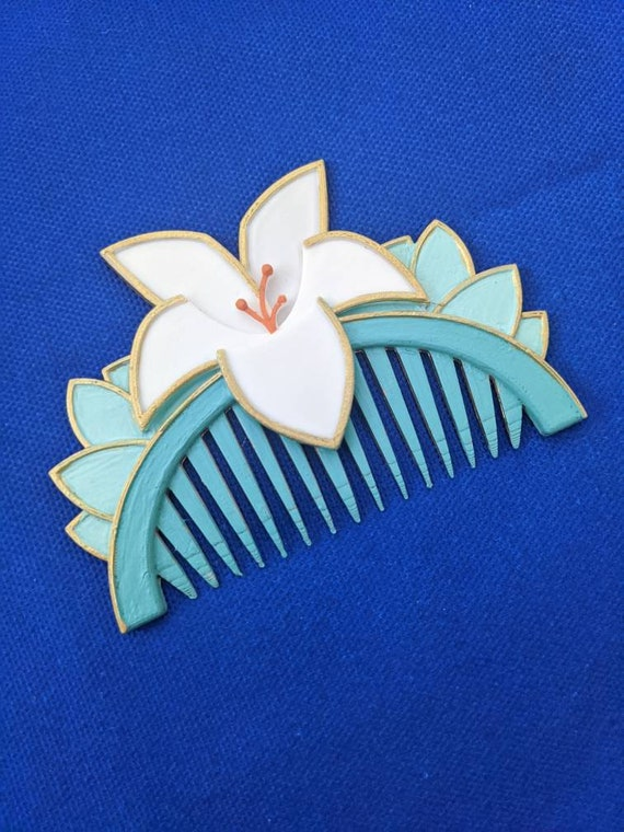 Mulan Inspired 3D Printed Hair Comb Cosplay Accessory