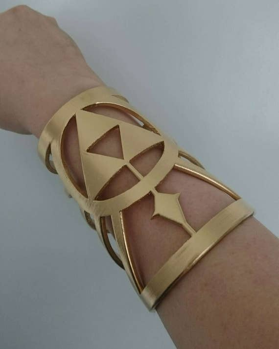 Zelda Breath of the Wild BOTW Inspired Princess Zelda Arm Cuffs Accessories (Pair)
