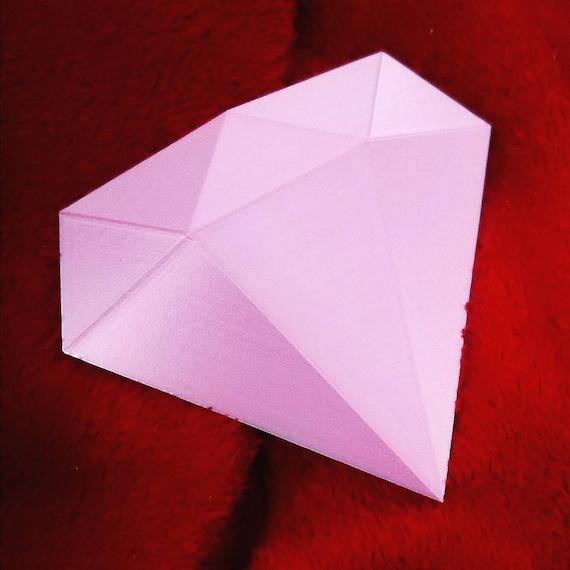 Steven Universe inspired Pink Diamond Gem 3D Printed