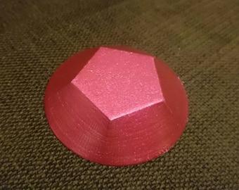 Steven Universe inspired Rose Quartz Gem 3D Printed