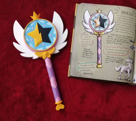 Star Vs the Forces of Evil Star Butterfly Inspired Season 2 Wand Cosplay Prop