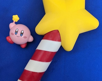 Kirby Inspired Star Rod Cosplay Wand Prop