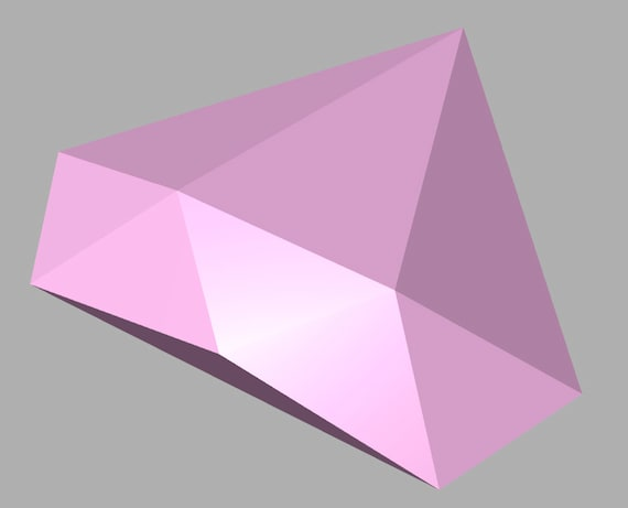 Steven Universe inspired Pink Diamond Gem 3D Printed
