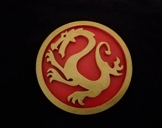 Mulan Inspired Dragon Design Medal Medallion Disc