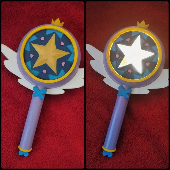 Light Up Season 1 Star Vs the Forces of Evil Star Butterfly Inspired Star Wand Prop