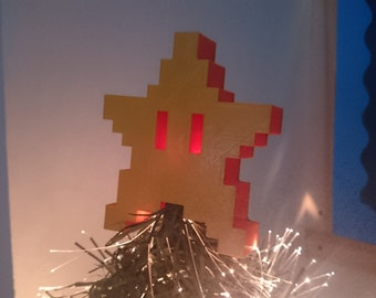Starman Mario Inspired Christmas Star Tree Topper Decoration (Small)