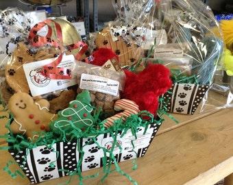 Large Dog Gift Basket Gourmet Dog Treats