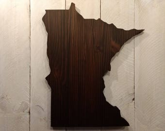 Rustic Minnesota State Sign/Plaque, Add a heart to your location