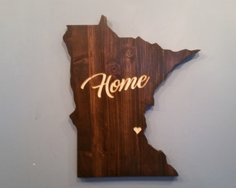 Minnesota State Sign, Minnesota, Personalized State Decor