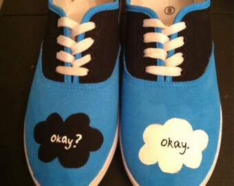 The Fault in Our Stars inspired canvas  lace-up shoes
