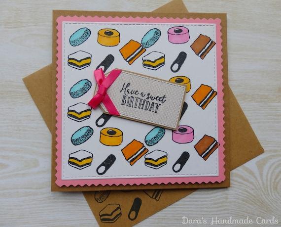 handmade licorice allsorts birthday card  etsy