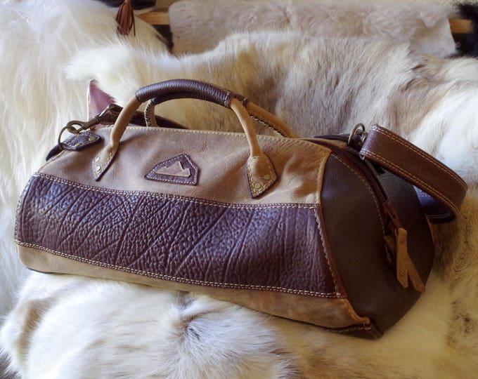 duffel bag, sports bag, travel bag, Brown and Tan Leather, for men