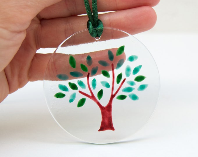 The Tree of Life Necklace - Hand Painted Glass - Various colors - Ready To Ship
