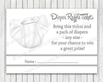 Diaper Raffle Tickets