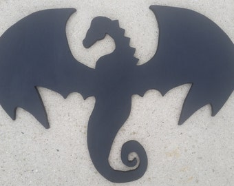 Dragon wooden plaque