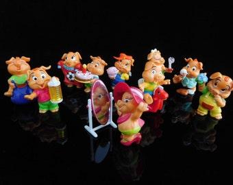 KINDER SURPRISE SET PINKY PIGGIES LITTLE PIGS PARTY 2000 FIGURES COLLECTIBLES