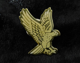 Vintage LOGO PIN, Badge, EAGLE, white flying eagle, Enamel Pin, Collectible, Pinback Button, Fan pin, Patche, Pins, Badge / hunters gift