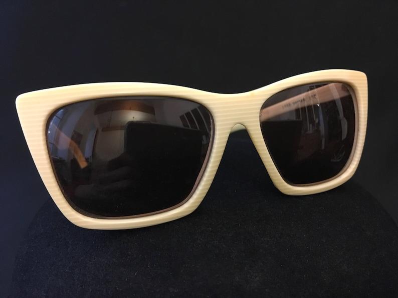 9514f1b2e6775 Pierre Balmain Sunglasses. Oversize 80s Balmain Glasses. Ivory