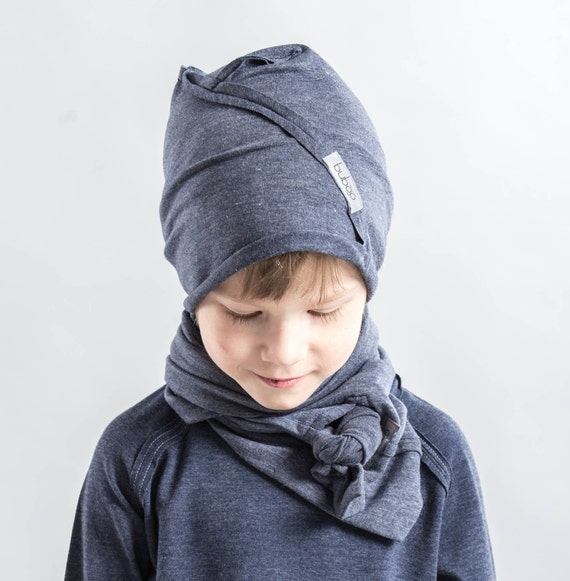 Blue toddler hat Cotton slouchy boy beanie Beanie men  8463be562f