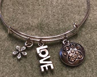 Paw Print Charm Bracelet