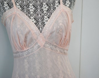 1f5e3d81a GORGEOUS 50s Early 60s Vintage Femme Fatale PINK Full Slip Lingerie Pin Up  Sexy Liz Taylor Style Trousseau Quality Under Garment