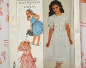 1980s Gunne Sax Girl 39 s Dress Simplicity Pattern 8703 Uncut Retro Jessica McClintock Sewing Pattern