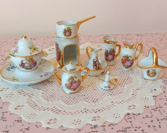 Vintage Limoges France miniatures set