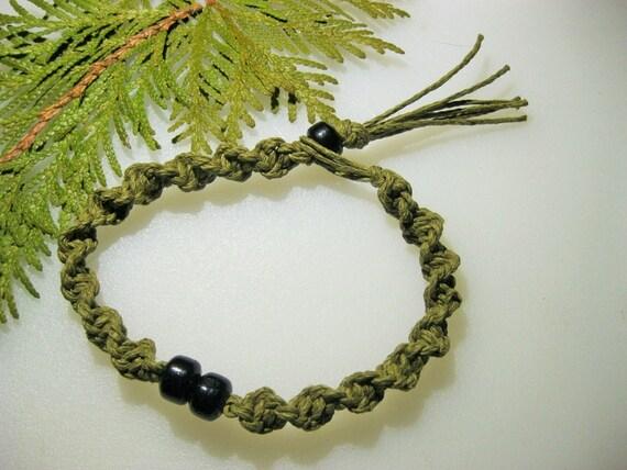 Hemp Necklace Hemp Bracelet Sage Spiral Hemp Jewelry Etsy