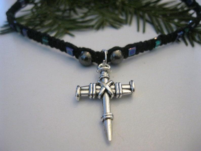 Cross Hemp Necklace