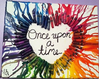 Melted Crayons Art- Heart