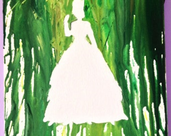 Melted Crayon Art- The Princess and the Frog Silhouette