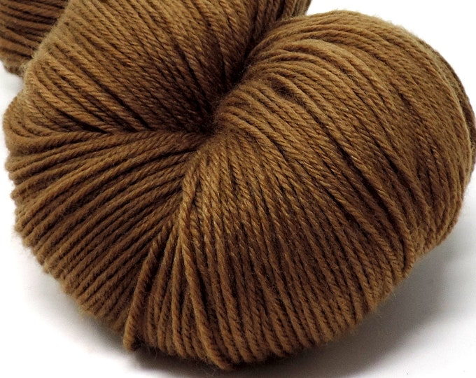 Naturally Plant Dyed, Black Walnut Dyed, Wool Yarn, KY Color, Foraged on My Farm, Brown, Fingering, Merino, 100g, 462 yds