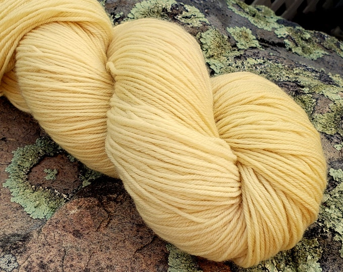 Lichen Dyed, Naturally Dyed, Wool Yarn, KY Color, Foraged on My Farm, Yellow, Fingering, Merino, 100g, 462 yds, Botanical Dye,