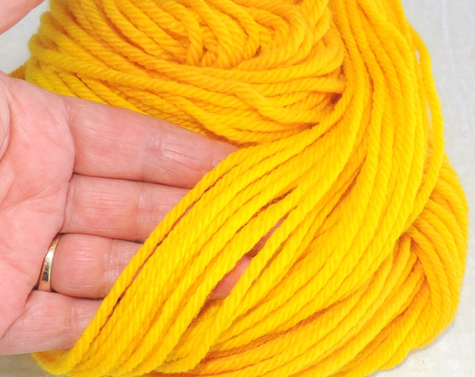 Natural Dyed, Turmeric, Merino Yarn, Worsted Weight, Indie Dyed Yarn, Yellow Yarn, Knitting Yarn, Naturally Dyed, Crochet Yarn, Weaving,