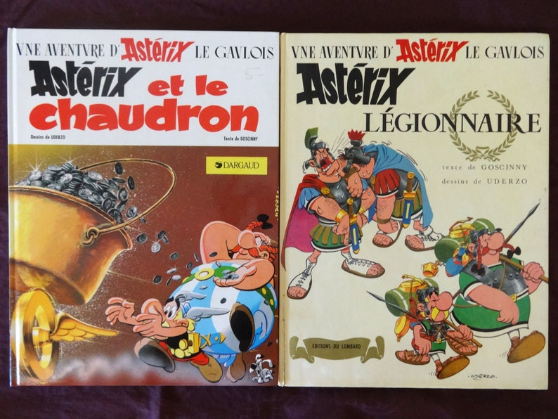 ASTERIX Legionnaire French Comic Book Lot of 2 1968 1st  1395ddc7d2