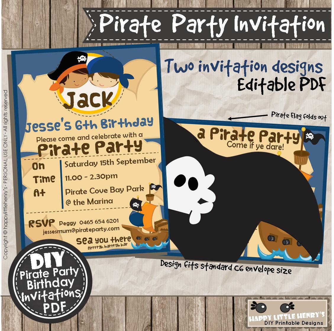 Pirate party invitations instant download pdf diy editable pirate party invitations instant download pdf diy editable birthday invite printable party decoration navy blue orange papercraft filmwisefo