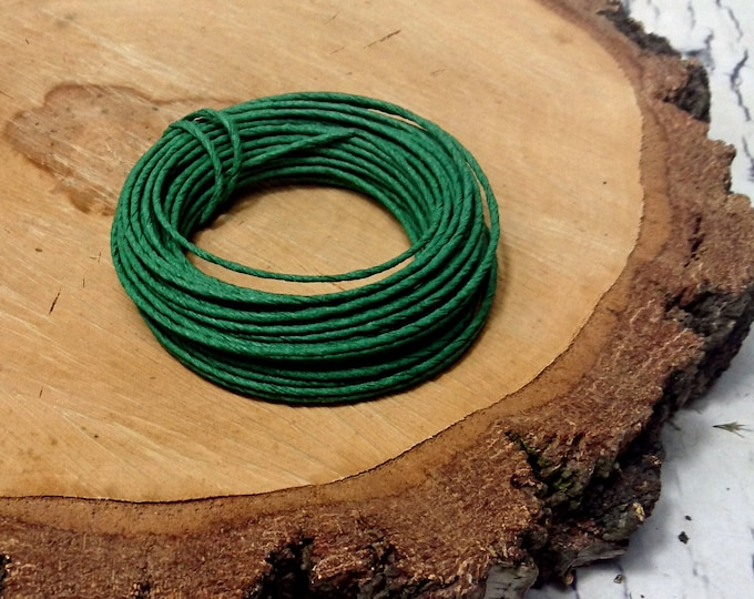 Paper covered rustic wire 10 m  10,9yd green flower crown wreath florist supply Wedding Flowers diy decor bouquet woodland
