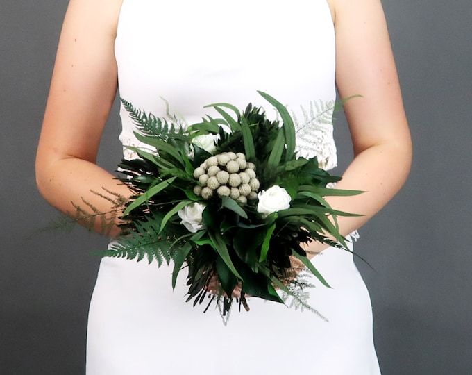 Small toss bridesmaid woodland boho wedding bouquet