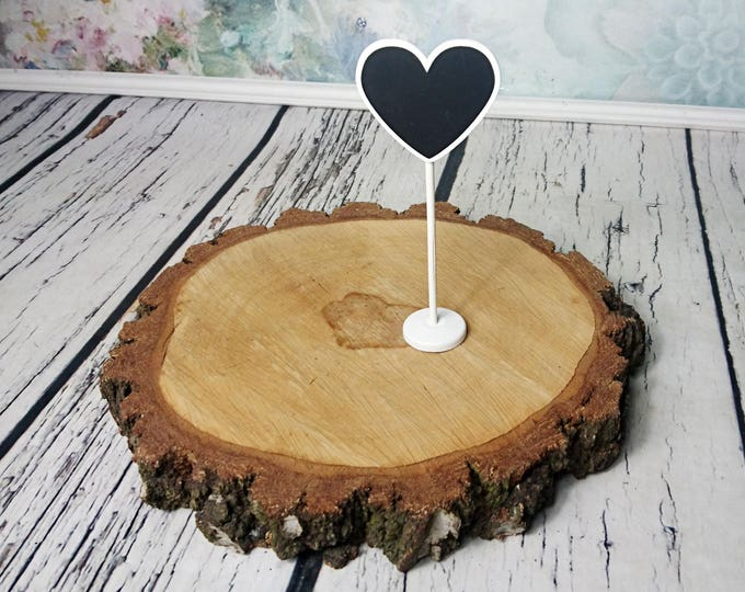 Rustic style chalkboard place sign table number heart shape card table decor vignette wedding black and white