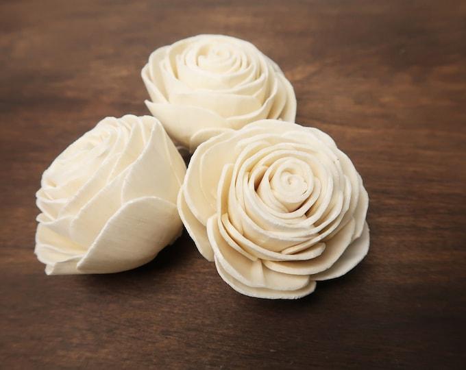 DIY wedding bouquet rose Sola Flowers 12 or 100 pcs 6cm