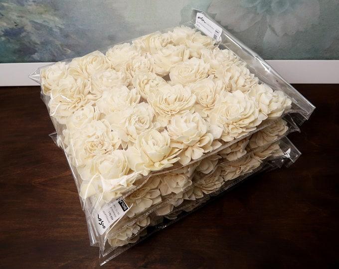 """Wholesale bulk Sola Dahlia Flowers 100pcs Wedding decor white ivory diy bouquet floral supply natural table decor favor rustic 6cm 2 23⁄64"""""""