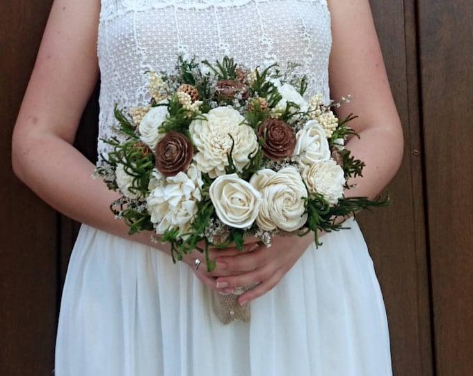 Large woodland wedding bouquet