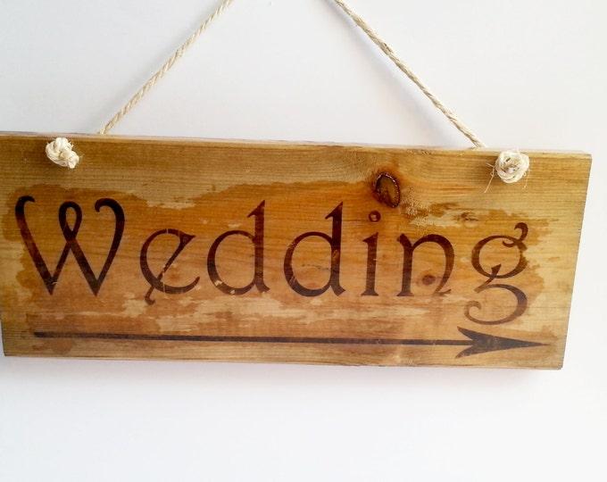 "Wedding board sign hanging ""wedding"" rustic wedding wedding decor woodland distressed old wood"