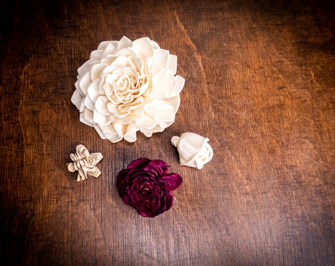 Sola flower SAMPLE Wedding Flowers white ivory diy bouquet floral supply natural flowers rustic belly