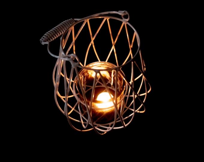 Modern metal and glass lantern, geometric wedding centerpiece, black white lantern, garden party decor, outdoor home shabby chic