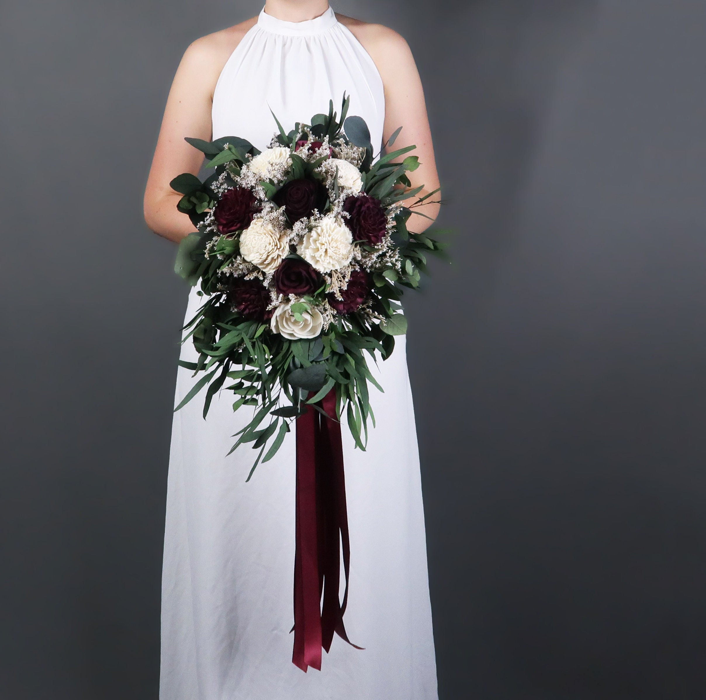 Fall Wedding Flowers List: Southwestern Boho Wedding Bouquet Preserved Eucalyptus