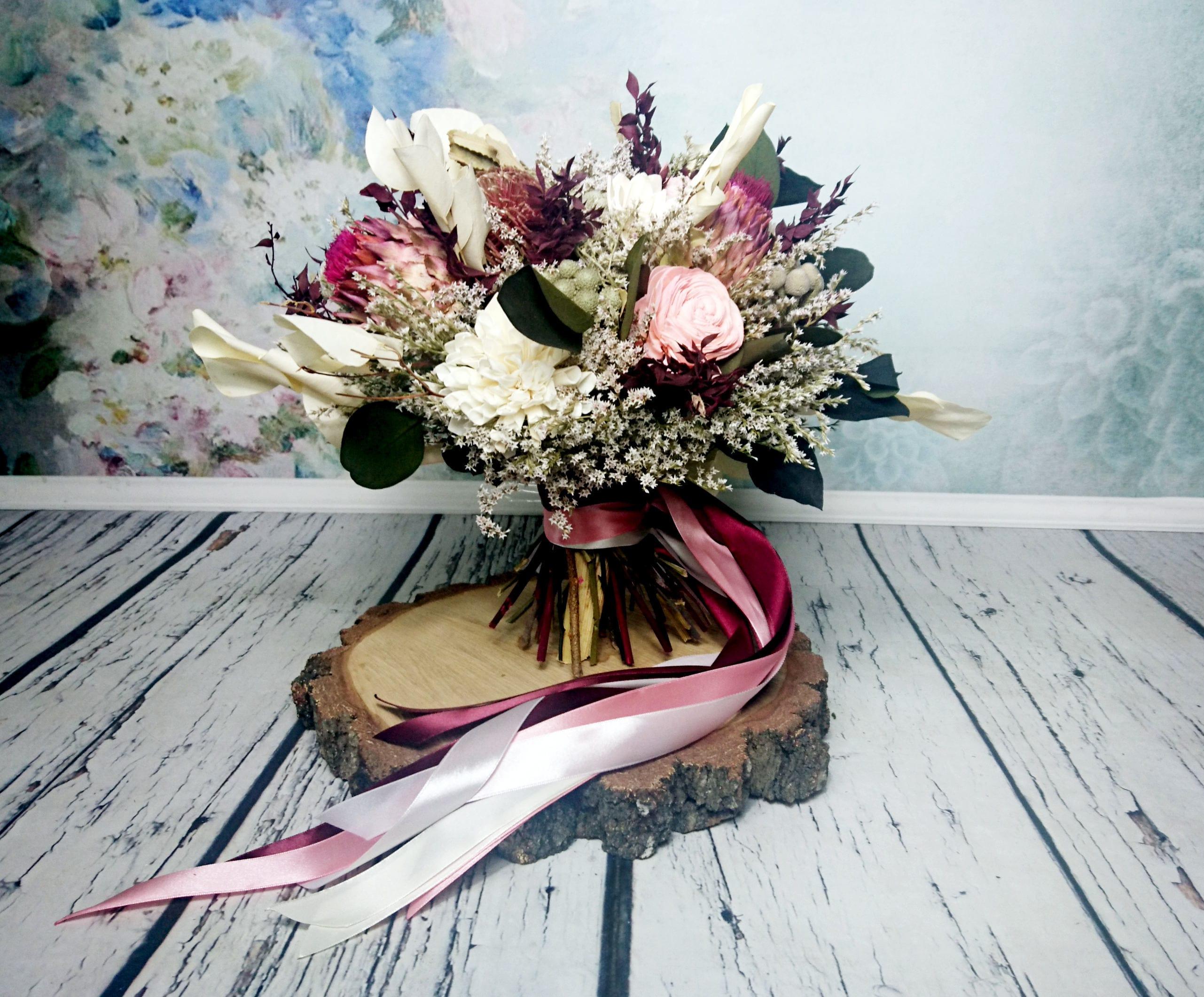 Tropical flowers bouquet in shades of wine pink cream and green tropical flowers bouquet in shades of wine pink cream and green perfect for boho wedding izmirmasajfo