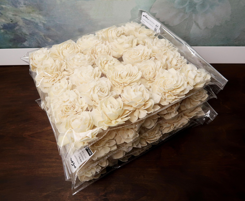 Wholesale bulk sola dahlia flowers 100pcs wedding decor white ivory gallery photo izmirmasajfo