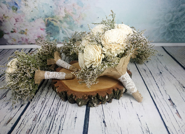 Simple Bridal flowers package BIG bridal 5 small bridesmaids ...